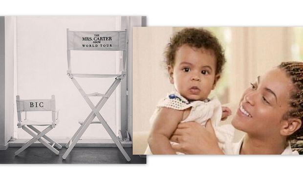 Μια καρέκλα για την Blue Ivy στην περιοδεία της μαμάς Beyonce!
