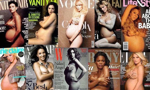 Τα καλύτερα εξώφυλλα με διάσημες έγκυες γυμνές!
