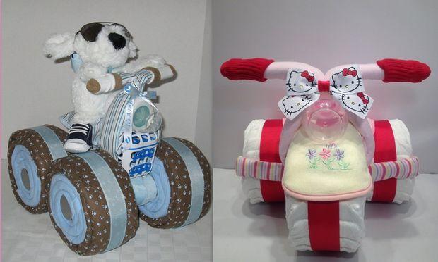 Η νέα μόδα κάνει τα diaper cakes, μηχανές!