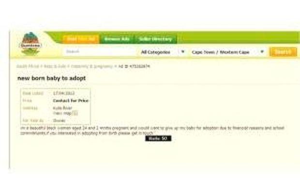 Έγκυος πουλούσε το αγέννητο παιδί της σε ιστοσελίδα αγγελιών στο internet