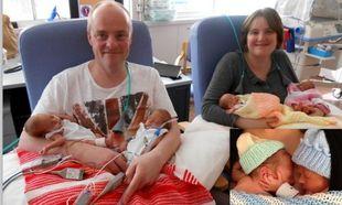 Τετράδυμα γεννήθηκαν 11 εβδομάδες νωρίτερα και επέζησαν! (φωτό)