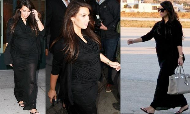 Καλοντυμένη κατά την άφιξή της στην Ελλάδα η Kim Kardashian