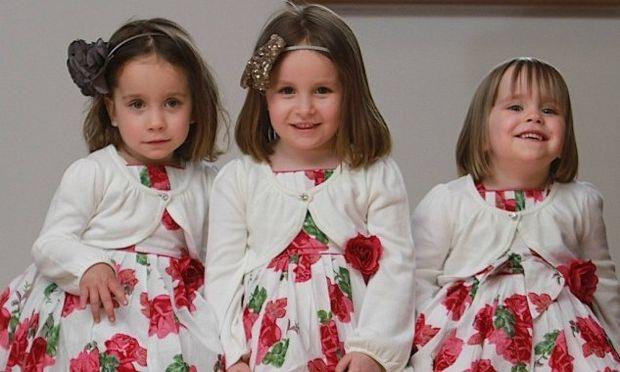 Απίστευτο: Είναι αδελφές, είναι τεσσάρων χρονών και οι τρεις αλλά δεν είναι τρίδυμες!