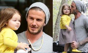 David Beckham: Το κολιέ από καραμέλες και τα τρυφερά φιλιά στην κόρη του! (φωτό)