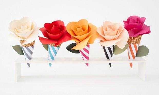 Χαρίστε στη δασκάλα λουλούδια σε… χωνάκι!