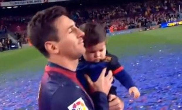 Λιονέλ Μέσι: Στη φιέστα για το πρωτάθλημα με τον έξι μηνών γιο του! (Βίντεο)