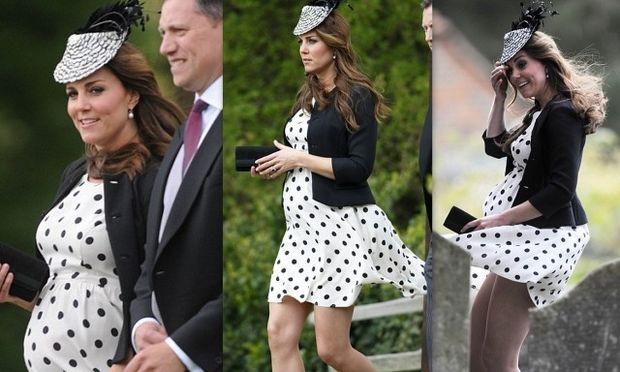 Η κακή στιγμή της εγκύου Κέιτ Μίντλετον όταν σηκώθηκε από τον αέρα το φόρεμά της! (φωτό)