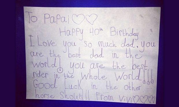 Το πιο γλυκό γράμμα που δέχτηκε διάσημος μπαμπάς από την κόρη του!