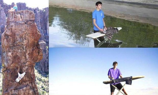 Ο έφηβος Κέβιν έχει για χόμπι του να σιδερώνει στα πιο απίθανα μέρη! (φωτό)