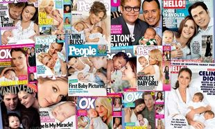 Tα καλύτερα εξώφυλλα διασήμων με τα νεογέννητά τους και τα υπέρογκα ποσά για τη δημοσίευση!