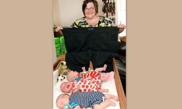 Κατάφερε να γεννήσει τρίδυμα αφού έχασε σχεδόν 76 κιλά! (φωτό)