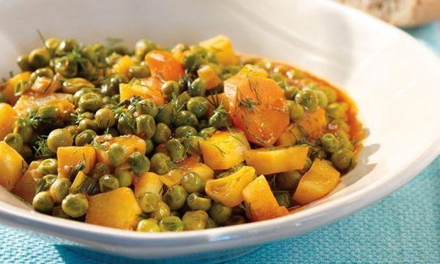 Συνταγή  για φρέσκο αρακά με καρότα!