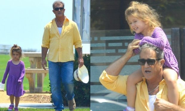 Μελ Γκίμπσον: Τρυφερές στιγμές με την 3χρονη κόρη του (φωτογραφίες)