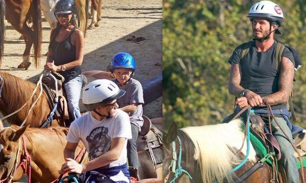 Η αμαζόνα Βικτόρια Μπέκαμ, ο Ντέιβιντ και οι γιοι τους σε ράντσο για ιππασία! (φωτογραφίες)