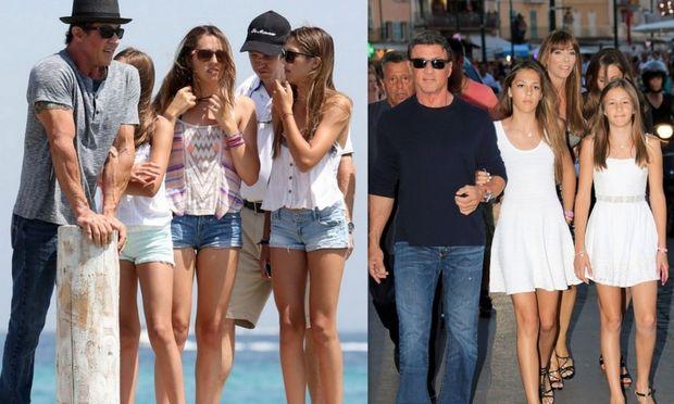 Ο Σιλβέστερ Σταλόνε με τις κόρες του σε διακοπές στο Σεν Τροπέ! (φωτογραφίες)
