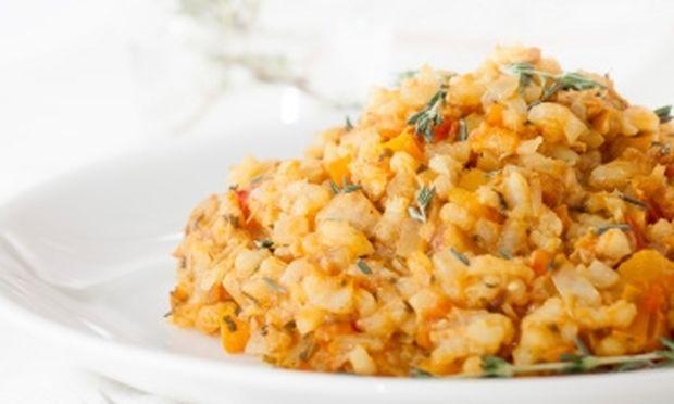 Συνταγή για τέλειο ριζότο με  ντοματάκια και κολοκύθι!