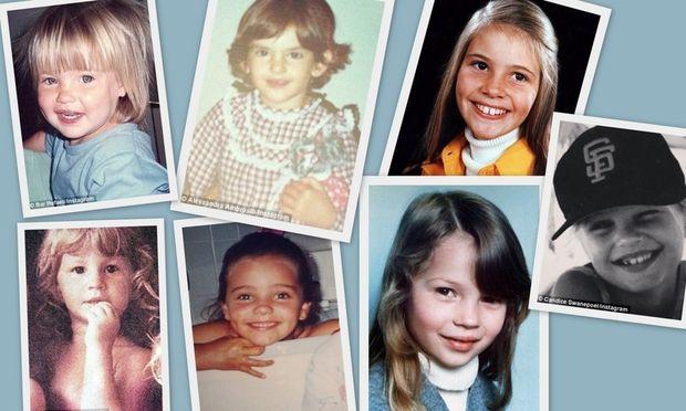 Τα κορυφαία μοντέλα του κόσμου σε παιδικές φωτογραφίες