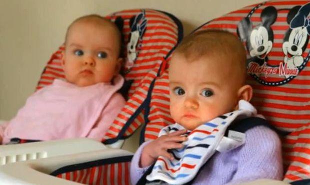 Δίδυμα κοριτσάκια γεννήθηκαν με 87 ημέρες διαφορά! (βίντεο)