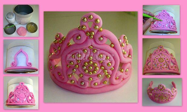 My cakes - My Hobby: Φτιάχνουμε την πιο γλυκιά τιάρα για τη τούρτα της μικρής μας πριγκίπισσας!