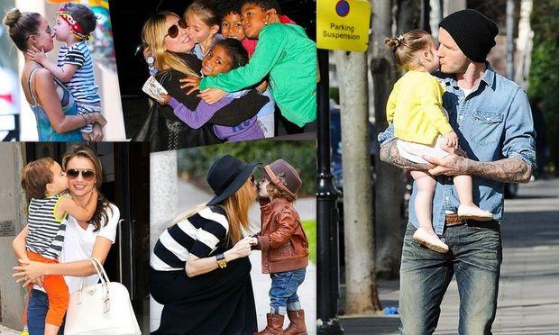 Διάσημοι στις πιο τρυφερές στιγμές με τα παιδιά τους!