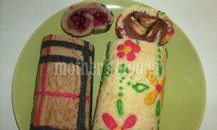 Μy cakes - My hobby: Ενα ρολό κέικ αλλιώτικο από τ' άλλα!