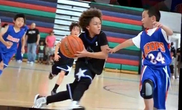 O 8χρονος που έχει τρελάνει με το ταλέντο του τον κόσμο του μπάσκετ! (βίντεο)