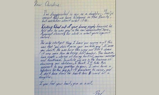 Το συγκλονιστικό γράμμα ενός παππού για τον ομοφυλόφιλο εγγονό του