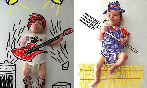 Πώς μία μαμά μετέτρεψε φωτογραφίες του γιου της σε σκίτσα!