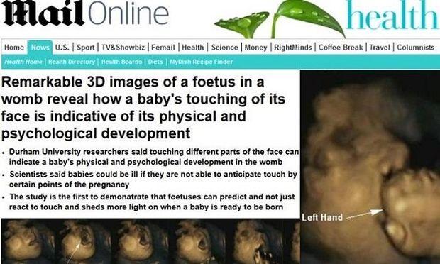 Το άγγιγμα θετικό σημάδι για την ανάπτυξη του εμβρύου