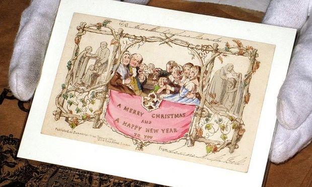 Αυτή είναι η πρώτη ευχετήρια κάρτα που σχεδιάστηκε για τα Χριστούγεννα (φωτογραφίες)