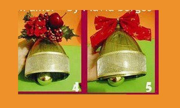 Φτιάξτε διακοσμητικές Χριστουγεννιάτικες καμπάνες