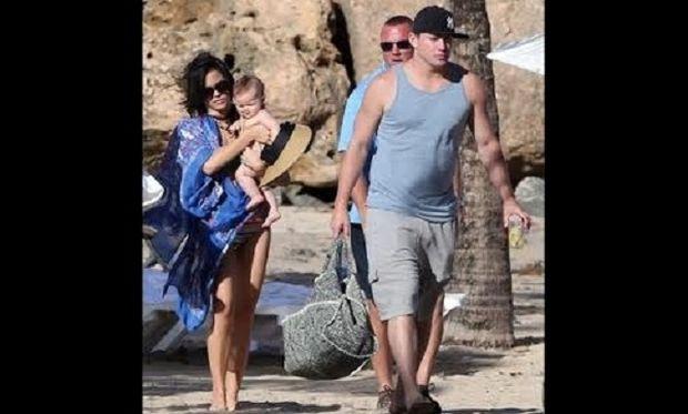 Τσάνινγκ Τάτουμ και Τζένα στην παραλία μαζί με την κόρη τους Έβερλι! (εικόνες)