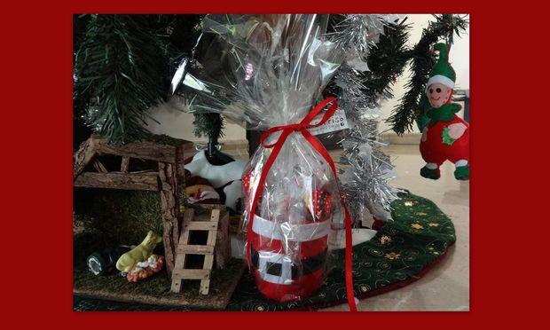 Φτιάξτο μόνη σου! Χριστουγεννιάτικη σύνθεση σε χειροποίητο καλαθάκι