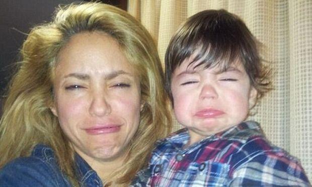 Η Σακίρα και ο μικρός Μίλαν στην ίδια αστεία γκριμάτσα! Είναι ολόιδιοι! (εικόνα)