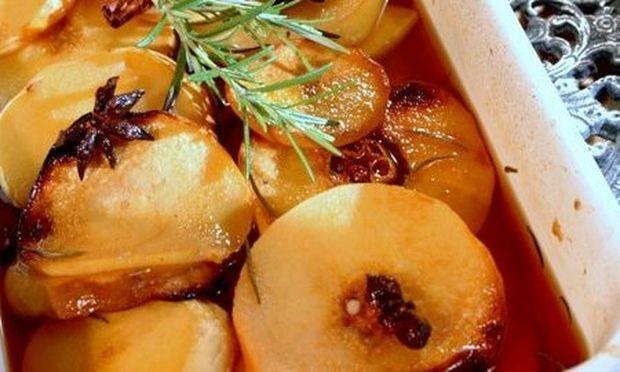 Συνταγή για νόστιμα και ελαφριά κυδώνια στον φούρνο