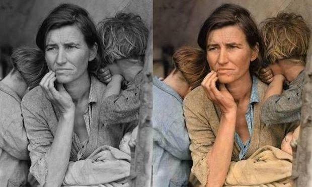 «Η γυναίκα - σύμβολο, σε μία φωτογραφία που στιγμάτισε την Αμερική», γράφει η Δέσποινα Καμπούρη