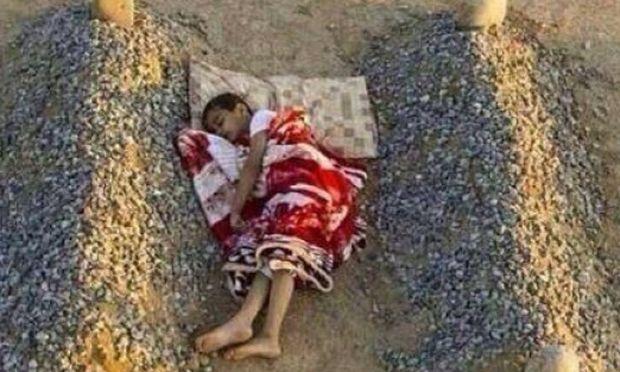 «Κι έμεινα μόνος»... Η φωτογραφία - γροθιά στο στομάχι από την κόλαση της Συρίας (εικόνα)