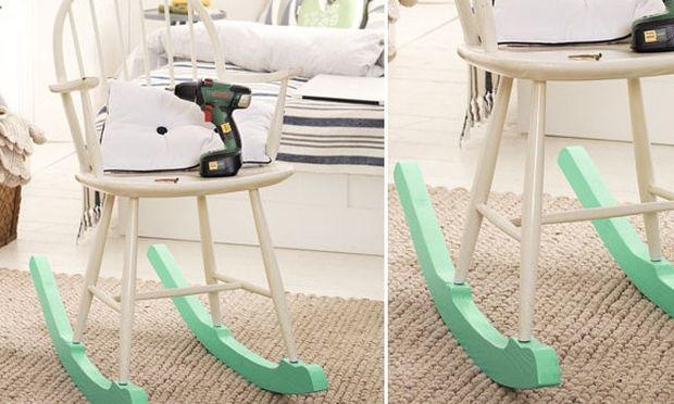 Ανακυκλώστε τις παλιές σας καρέκλες. Κάντε τις κουνιστές! (εικόνες)