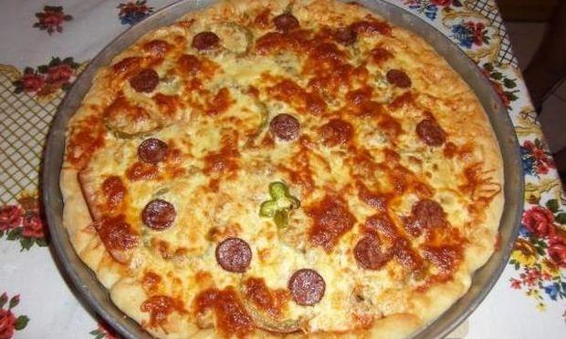 Συνταγή για πεντανόστιμη πίτσα γεμιστή με τυρί κρέμα