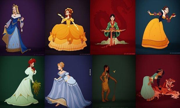 Οι πριγκίπισσες της Disney φορούν τις ενδυμασίες της εποχής τους (εικόνες)