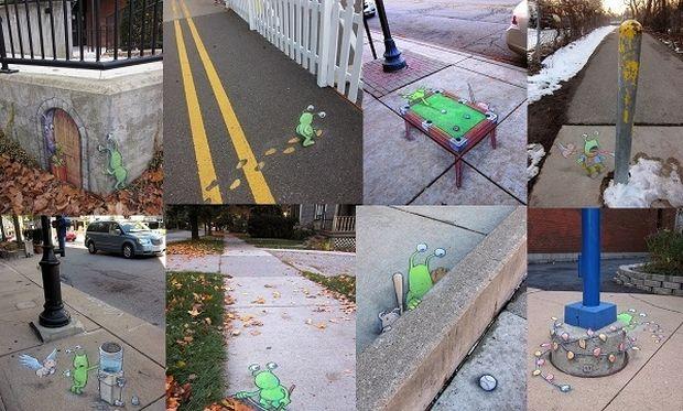Κόμικς φτιαγμένα από κιμωλία δίνουν ζωή στους δρόμους της πόλης! (εικόνες)