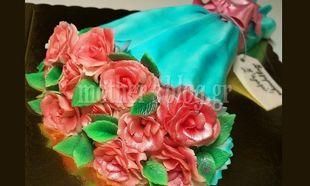 My cakes - My hobby: Φτιάχνουμε τούρτα- ανθοδέσμη