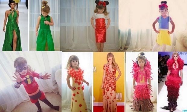 Η τετράχρονη που δημιουργεί εντυπωσιακά ρούχα από χαρτί! (εικόνες)