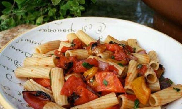 Συνταγή για μακαρόνια με ψητά λαχανικά