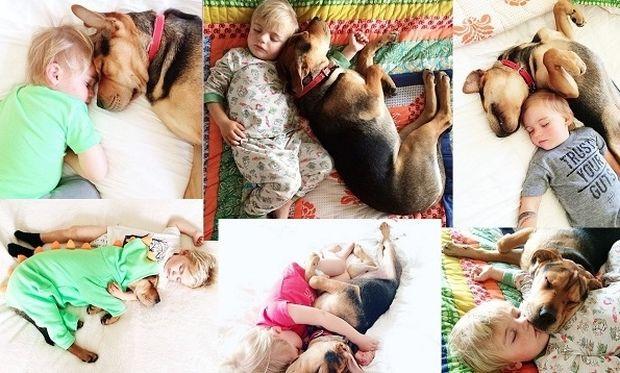 To αγόρι και το κουτάβι! Μπορεί να μεγάλωσαν αλλά κοιμούνται ακόμα μαζί (εικόνες)