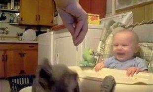 Πώς ένα μωρό ξεκαρδίζεται στα γέλια; Δείτε το βίντεο!
