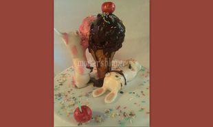 Μy cakes my hobby: Φτιάχνουμε παγωτό που... δεν λιώνει ποτέ!