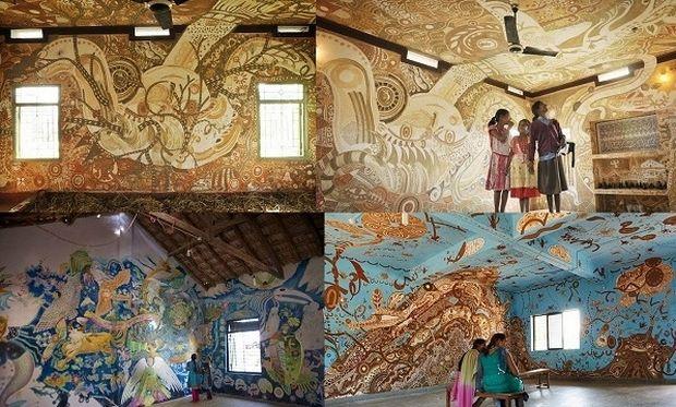 Κι όμως! Αυτές οι εντυπωσιακές τοιχογραφίες είναι…σε σχολική αίθουσα! (εικόνες)