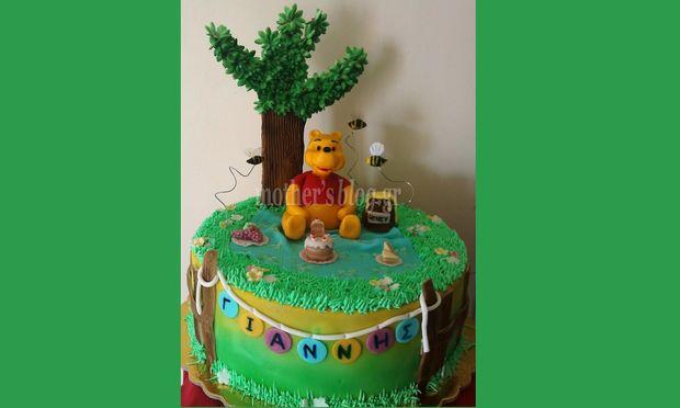 My cakes - My hobby! Φτιάχνουμε παιδική τούρτα Γουίνι το αρκουδάκι!