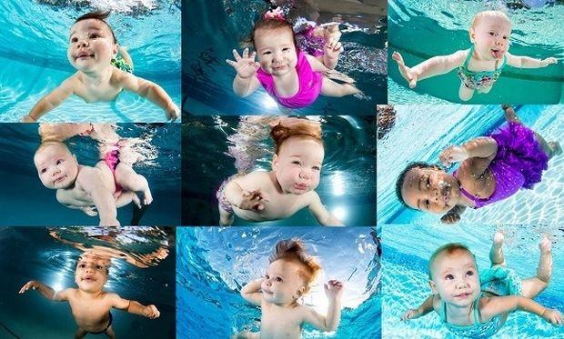 Μοναδικό! Μωρά μέσα στο νερό σε απίστευτες πόζες (εικόνες)